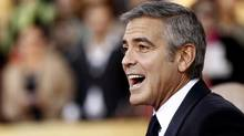 George Clooney arrives at the 18th Annual Screen Actors Guild Awards on Sunday Jan. 29, 2012 in Los Angeles. Maybe he won't win the Oscar after all . . . (Matt Sayles/AP)