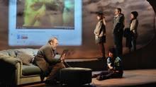 François Archambault's Tu te souviendras de moi stars, from left, Guy Nadon, Johanne-Marie Tremblay, Emmanuelle Lussier Martinez, Claude Despins and Marie-Hélène Thibault. (Suzane O'Neill)