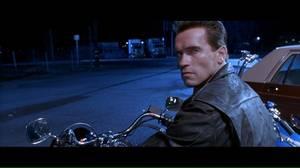 Arnold Schwarzenegger stars in the film Terminator 2: Judgement Day.