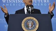 US President Barack Obama speaks on energy security Wednesday, March 30 (MANDEL NGAN/Mandel Ngan/AFP/Getty Images)