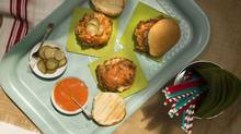 Fried chicken sandwiches with zesty ketchup are a nice home-cooked picnic option. (Peter Power for The Globe and Mail)