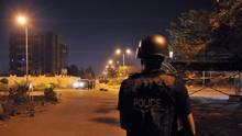 Malian police officers patrol in Bamako on March 21, 2016. (HABIBOU KOUYATE/AFP/Getty Images)