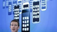 Mark Zuckerberg, Facebook's co-founder and chief executive during a Facebook press event in Menlo Park, California, April 4, 2013. (ROBERT GALBRAITH/REUTERS)