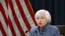 Federal Reserve Chair Janet Yellen holds a news conference following day two of the Federal Open Market Committee (FOMC) meeting in Washington, U.S., December 14, 2016 (GARY CAMERON/REUTERS)