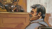 Manssor Arbabsiar is shown in this courtroom sketch during an appearance in a Manhattan courtroom in New York on Oct. 11, 2011. (Jane Rosenberg/Reuters)