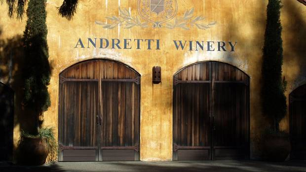 The barrel storage facility at the Andretti's vineyard (Jeff Pappone for The Globe and Mail)