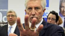 Bloc Quebecois Leader Gilles Duceppe speaks to supporters during a campaign stop in Gatineau on April 29, 2011. (FRED CHARTRAND/THE CANADIAN PRESS)