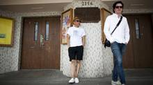 Thomas Anselmi(right) and Paul Wong(left) are photographed along West 4th Avenue in Vancouver, British Columbia, Wednesday, July 10, 2013. Both are involved in the Khatsahlano! Music + Art Festival taking place along this street on Saturday. (Rafal Gerszak/Rafal Gerszak)