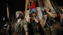 In this July 16, 2016, file photo, Turkish soldiers secure Istanbul's Taksim square. (Emrah Gurel/AP)