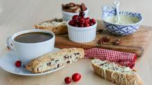 Cranberry White Chocolate Biscotti. (Stephanie Eddy for The Globe and Mail)