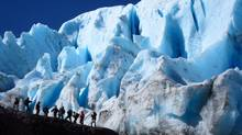 Hiking near a glacier in Melimoyu, in southern Chile. (Francisca Ureta/Francisca Ureta)
