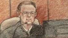 An artist's sketch of Judge Redfield T. Baum done during a Phoenix bankruptcy court hearing with regards to the sale of the NHL Coyotes to Jim Balsillie. (CTV)