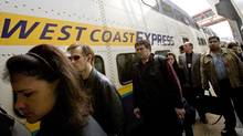 Passengers of the West Coast Express arrive during the morning rush hour at the Waterfront Station May 17, 2007 in downtown Vancouver. (Rafal Gerszak for The Globe and Mail/Rafal Gerszak for The Globe and Mail)