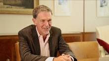 Netflix CEO Reed Hastings at the Globe and Mail on Monday, September 10, 2012.