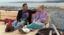 Shaun Majumder and fiancée Shelby Fenner.