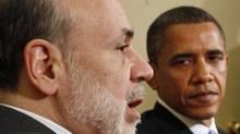 U.S. President Barack Obama, left, pictured with Federal Reserve chairman Ben Bernanke. (LARRY DOWNING/Reuters)