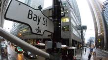 A Bay Street sign is seen in Toronto's financial district. (MARK BLINCH/REUTERS)