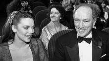 Prime Minister Pierre Trudeau and actress Kim Cattrall, attend the Genie Awards in Toronto on March 12, 1981. (GAIL HARVEY/THE CANADIAN PRESS)