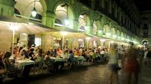 Enjoying a night out in Plaza Real, Barcelona. (Luciano Rodriguez/Tourism Spain)