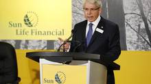Sun Life Financial president and CEO Dean Connor speaks at their annual general meeting for shareholders in Toronto, May 10, 2012. (MARK BLINCH/REUTERS)