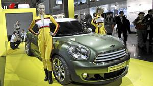 Mini uses models in a fun way that the company says 'can't be sexist.'