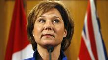 BC Premier Christy Clark during a press conference at the BC Legislative Building in Victoria, Tuesday March 27, 2012. (Chad Hipolito for The Globe and Mail/Chad Hipolito for The Globe and Mail)