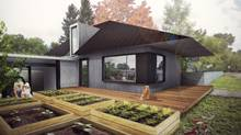 An rendering of a Calgary laneway home. (Studio North)
