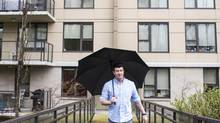Jordan Hopper lived at home for university and worked summers and Saturdays, saving $76,700 for a down payment for a condo at Mira on the Park in North Vancouver, B.C. (Jimmy Jeong For The Globe and Mail)