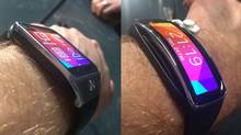Even at this angle, the Gear 2 looks big and bulky... while the Gear Fit looks more like the smartwatch you want (if not quite so garish) (Peter Nowak/Special to The Globe and Mail)