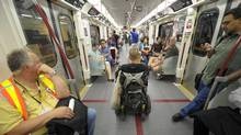 The public got to ride the new Bombardier-made TTC subway cars on Thursday, on an inaugural run down the Yonge-University-Spadina line. (Fred Lum/The Globe and Mail)