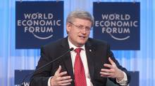 Stephen Harper in Davos last week: Innovation – or the dearth of it – has rocketed to the top of his government's agenda. (Adrian Wyld/The Canadian Press/Adrian Wyld/The Canadian Press)