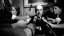 Pablo Neruda, then Chilean ambassador to France, after being named the 1971 Nobel Prize for Literature. (Laurent Rebours/The Associated Press)
