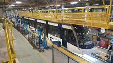 A Metrolinx LRV is shown being built in Thunder Bay in this recent handout photo. (HO/THE CANADIAN PRESS)