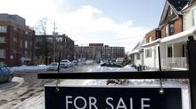 A for-sale sign is seen in Toronto. (Fernando Morales/The Globe and Mail)