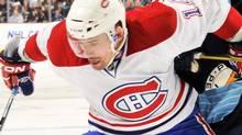 Tomas Plekanec of the Montreal Canadiens. (Photo by Jamie Sabau/Getty Images) (Jamie Sabau/2011 Getty Images)