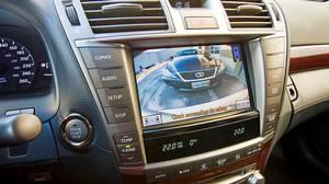 Console of the 2010 Lexus LS 460.