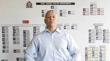 Port Moody police Inspector Andy Richards. (Lyle Stafford for the Globe and Mail)