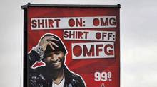 A billboard for Virgin radio featuring hip-hop artist Usher appears on Bloor Street West at Dundas on March 22, 2011. (Moe Doiron/Moe Doiron/The Globe and Mail)