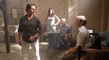"""Tom Cruise, Paula Patton, Simon Pegg and Jeremy Renner are shown in a scene from """"Mission: Impossible - Ghost Protocol."""" (David James/Paramount Pictures)"""