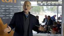 Jack Layton addresses supporters at a campaign stop in Cranbrook, B.C., on April 6, 2011. (Paul Chiasson/The Canadian Press/Paul Chiasson/The Canadian Press)