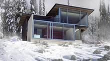 The owners of the Ernst house in Whistler, B.C. make the most of its 2,340 square feet by using rooms for multiple purposes. -Ernst-Ongman (D'Arcy Jones Design Inc.)