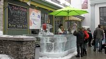 Pop-up ice bars offer Quebec fare - and the legendary Caribou, the potent drink invented to keep the sculptors warm throughout the night. (Sarah MacWhirter/The Globe and Mail/Sarah MacWhirter/The Globe and Mail)