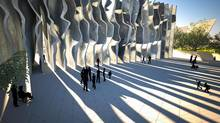 This proposal for a National Holocaust Monument is from the team including David Adjaye and Ron Arad.