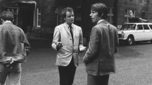 In the early 1960s of British rock, Kit Lambert, left, and Chris Stamp were the new bosses. And they were nothing like the old bosses. The poignant documentary explores the relationship between the novice managers. (Chris Morphet/Getty Images/Sony Pictures Classics)