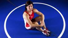 Olympic wrestler Tonya Verbeek of Canada poses for a portrait in St. Catharines, May 11, 2012. (Reuters)