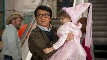 Jackie Chan and Alina Foley star in The Spy Next Door.