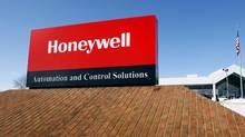 A view of the corporate sign outside the Honeywell International Automation and Control Solutions manufacturing plant in Golden Valley, Minn. (ERIC MILLER/REUTERS)