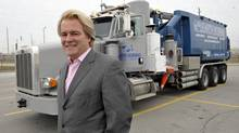 """Steve Hudson is pictured in front of a truck he financed in Toronto in 2011. Mr. Hudson's Element Financial Corp. is listed as a """"rookie stock of the year"""" on Report on Business magazine's 2013 ranking of the top 1000 most profitable companies. (J. P. Moczulski for The Globe and Mail)"""
