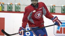 Montreal Canadiens defenceman P.K. Subban skates during the team's practice on Monday, April 28, 2014, in Brossard, Que. (Ryan Remiorz/THE CANADIAN PRESS)