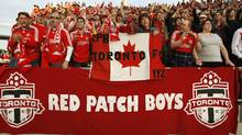 Toronto FC fans cheer on their team during a game against New York at BMO Field in Toronto, June 6, 2007. (J.P. MOCZULSKI)